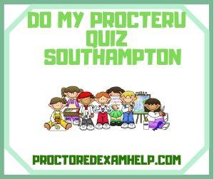 Do My ProcterU Quiz Southampton